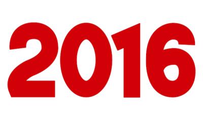 2016文字イラスト素材