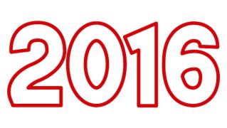 イラスト 年賀 イラスト 無料 2015 : 2016年3D立体文字★年賀状素材