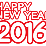 HAPPY NEW YEAR2016ハッピーニューイヤー無料文字