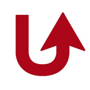 Uターン矢印折り返しデザイン