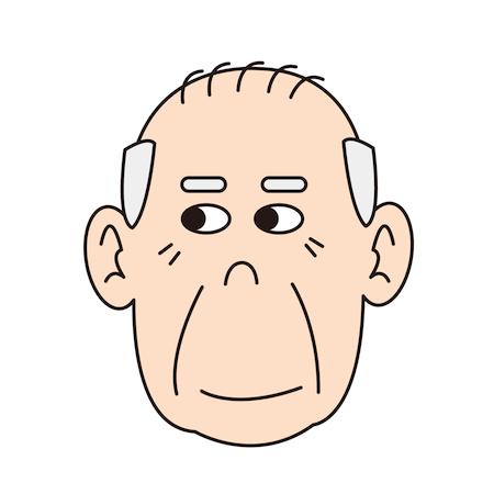 おじいちゃん顔イラスト