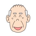 優しい笑顔のおじいちゃんイラスト