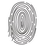指の指紋 線画イラスト