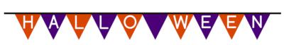ハロウィン三角旗フラッグ無料2