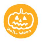 ハロウィンお化けかぼちゃスタンプはんこイラスト