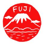 FUJI富士山のはんこスタンプ年賀状素材イラスト