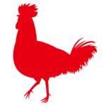 ニワトリ鶏シルエット影絵イラスト無料