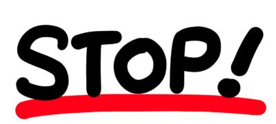 STOP!POP文字イラスト手書き