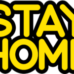 STAY HOMEステイホームPOP文字イラスト1