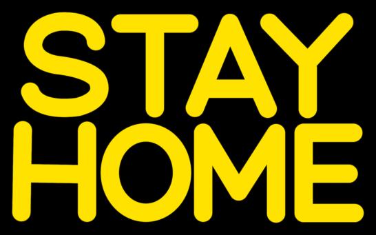 STAY HOMEステイホームPOP文字イラスト1