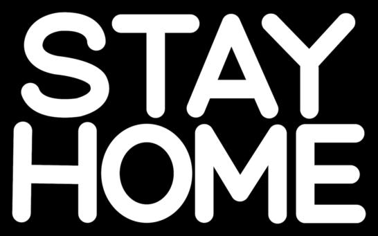 STAY HOMEステイホームPOP文字イラスト2